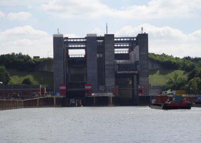 wir fahren weiter auf dem Kanal Richtung Elbe
