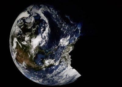 Die Erde im Gasometer