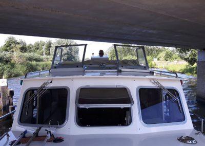 Niedrige Brücken vom Burgumer Mar nach Dokkum