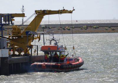 Start zum Einsatz im Wattenmeer