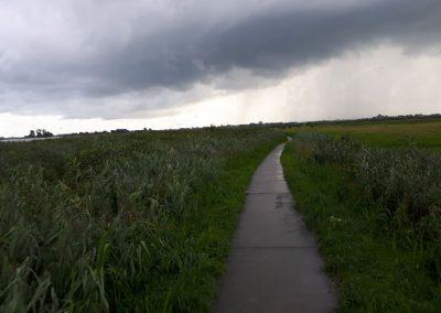 Diese Radtour endet sehr nass.....