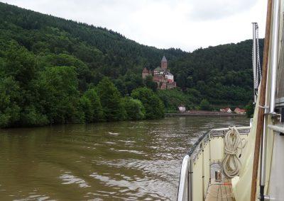 Fahrt auf dem Neckar